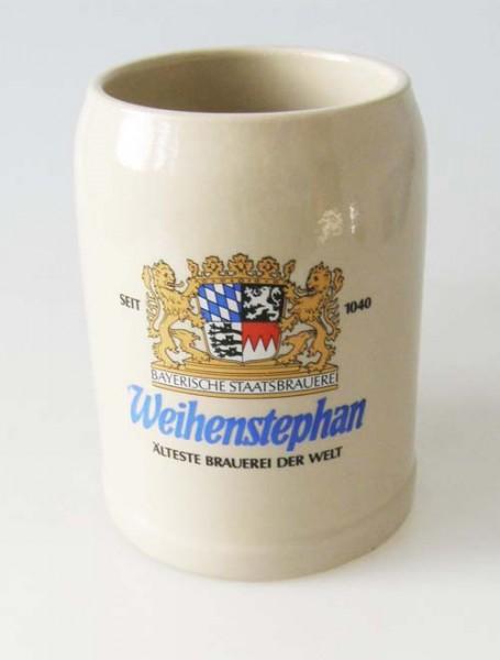 Weihenstephan Bayerische Staatsbrauerei Steinkrug Bierkrug 1/2 Liter