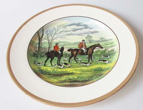 Spode Copeland The Hunt Braun Speiseteller 26,5 cm The Huntsman Nr. 6 J.F.Herring Sen.