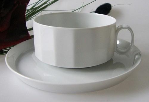 Rosenthal Polygon weiss Teetasse mit Untertasse, 0,22 l
