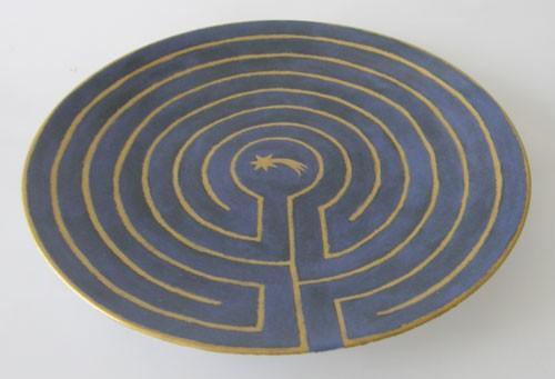 Sammelteller Labyrinth Bradex limitierte Auflage Künstlerin Nicole Herrnböck
