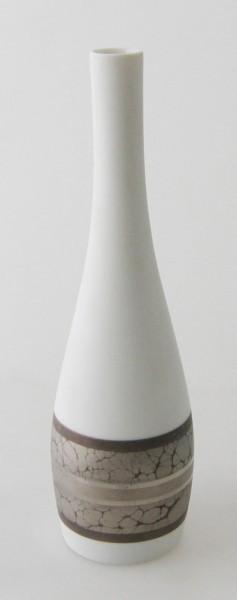 Rosenthal Vase Höhe 20,5 cm Silber handgemalt Künstler H.Drexler