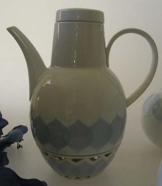 Rosenthal Lotus blau Set Kaffeekanne mit Stövchen 2-tlg.