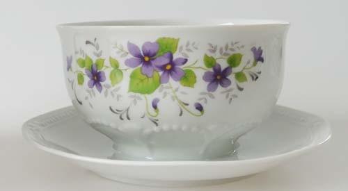 Mitterteich Form 140 Dekor Veilchen lila Sauciere 1-tlg. 0,40 l